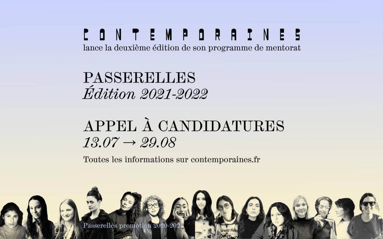 Passerelles — Appel à candidatures Édition 2021-2022 - Contemporaines